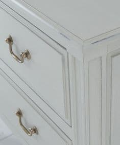 French House handpainted chest of drawers - French Griege